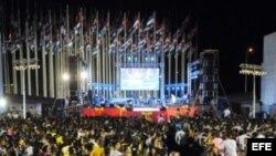 """Foto de archivo del concierto """"Cintas amarillas"""", en La Habana, Cuba."""