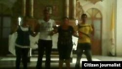 Reporta Cuba Activistas PRC FLAMUR templo católico Pinar del Rio