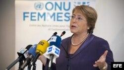 Fotografía de archivo que muestra a la entonces directora ejecutiva de ONU Mujer, Michelle Bachelet