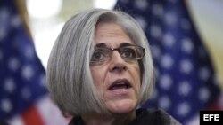 Judy Gross, la mujer de Alan Gross, en conferencia de prensa en el Congreso de EE UU. Foto de archivo