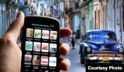 Imagen del paquete web en un teléfono celular