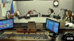 Imagen de archivo de un estudio de Radio Martí.