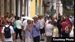 Turistas en La Habana.
