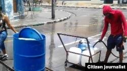 Reporta Cuba. La escasez de agua. Foto: @Jabueno.