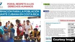 Informe de la Presidencia de Costa Rica sobre cubanos.