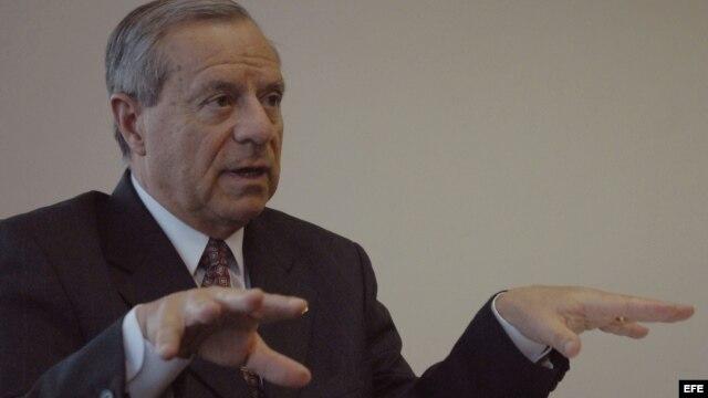 El canciller de Costa Rica, Enrique Castillo, durante una entrevista con Efe en Ciudad de Panamá (Panamá)