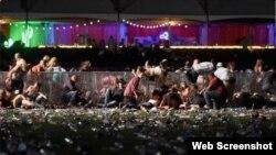 Imágenes del mortal tiroteo en festival de música en Las Vegas
