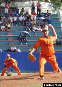 El lanzador zurdo Yasmani Hernández Romero.