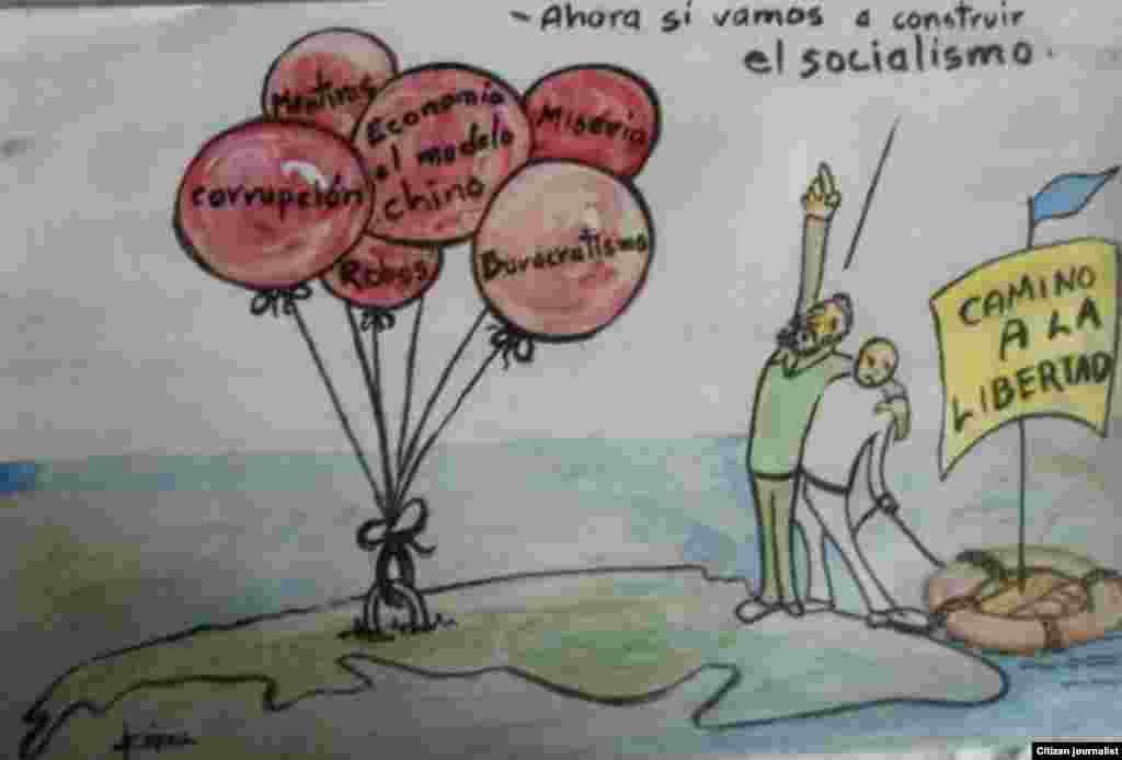 "Artista Gráfico Enrique Lópezde la serie ""Socialismo del Siglo XXI""."