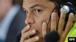 El capitán de la selección brasileña de fútbol, Thiago Silva.