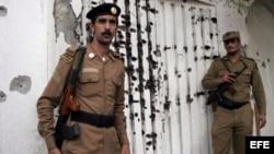 Dos guardias saudíes. Archivo.