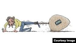 Caricatura de Lauzán.