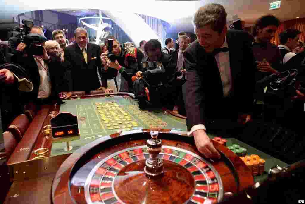 """El """"Gran Casino"""", en el Hotel Yugoslavia de Belgrado (Serbia)."""