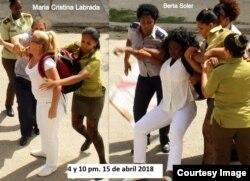 Domingo 143 de represión contra las Damas de Blanco en La Habana.