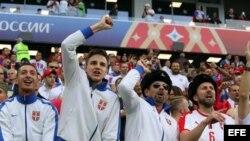 Partidario de Serbia antes de la Copa Mundial de la FIFA 2018