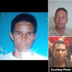 Opositores de la ADO detenidos (Izq. a der): Misael A. Fabré, JUlio C. Alvarez (arriba) e isael Poveda.