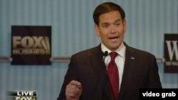 El senador Marco Rubio, uno de los ganadores del cuarto debate republicano.