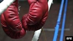 Foto de archivo de guantes de boxeo.