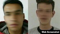 Imagen distorsionada de los dos detenidos. (Foto: Teleamazonas)