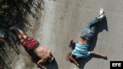 Otros de los cuerpos hallados por la policía mexicana