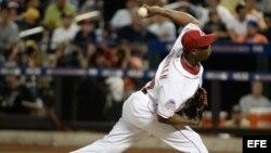 Aroldis Chapman, lanzador zurdo de los Rojos de Cincinnati.