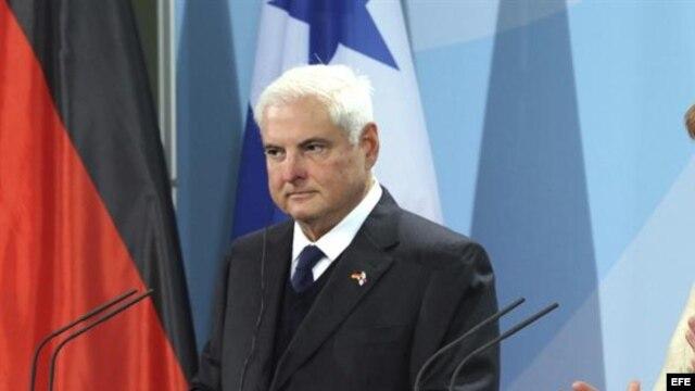 El  presidente panameño, Ricardo Martinelli.