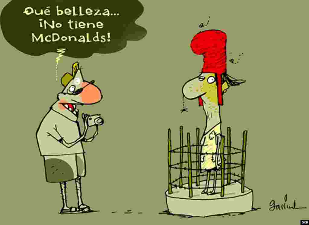 Garrincha cartoon about tourism