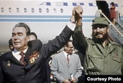 Leonid I. Brezhnev y Fidel Castro