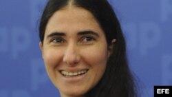 """La periodista y bloguera cubana Yoani Sánchez, autora del blog """"Generación Y"""". Archivo."""