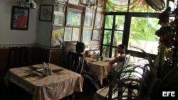 Foto de archivo de un paladar en Cuba