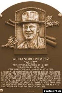 Alex Pompez en el Salon de la Fama