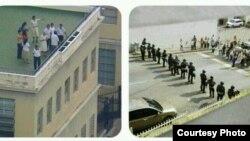 La monja Sor Zulay se enfranta a militares en Venezuela.