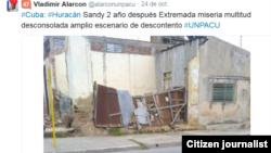 Reporta Cuba dos años después de Sandy. Foto: @alarconunpacu.