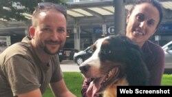 El perro Bruno se reune con su dueño