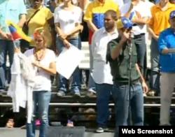 Henrique Capriles, concentración, Caracas