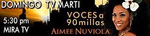 Promo banner - Aymée Nuviola - Voces a 90 millas