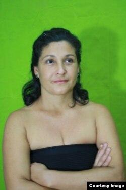 Iris Ruiz, actriz y curadora de los espectáculos performáticos de la #00BienaDeLaHabana.