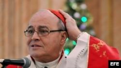 El cardenal Jaime Ortega, Arzobispo de La Habana.
