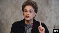 La mandataria brasileña Dilma Rousseff.