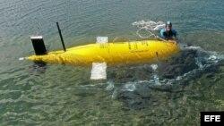 Foto de archivo de un vehículo submarino no tripulado (AUV).