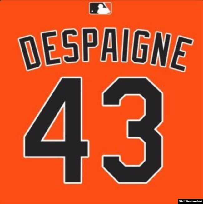 La camiseta de Odrisamer Despaigne con los Miami Marlins.
