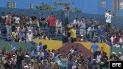 La multitud de La Habana fue a apoyar a su equipo que fue barrido por los Tigres