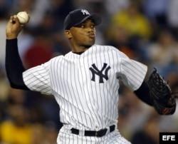 """Foto de archivo de """"El Duque"""" Hernández con los Yankees de Nueva York."""