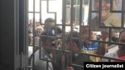 Acto de repudio a pastor en Camagüey el pasado año.