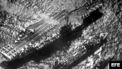 El USS Enterprise, el primer portaaviones nuclear del mundo, integró la flota que bloqueó a Cuba durante la crisis de los misiles.