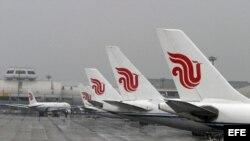 Aviones de Air China. Archivo.