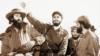 En la foto Camilo Cienfuegos, Fidel Castro y Huber Matos.
