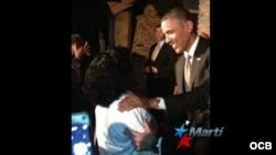 Encuentro de Barack Obama con Berta Soler.