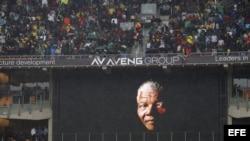 Homenaje a Nelson Mandela en Johannesburgo.