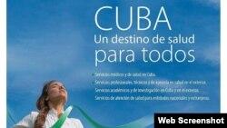 Comercializadora de Servicios Médicos de Cuba. Afiche.